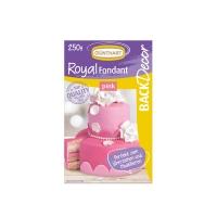 8 pz Royal pasta di zucchero, rosa
