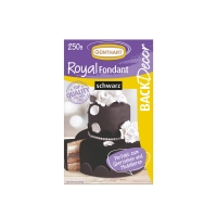 8 pz Royal pasta di zucchero, nero