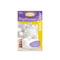 8 pz Royal pasta di zucchero, bianco