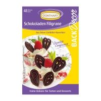 15 pz Filigrane al cioccolato