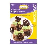 15 pz Filigrane al cioccolato fiori