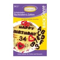 15 pz Lettere e numeri al cioccolato