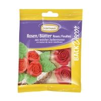 12 pz Rose e foglie rosse