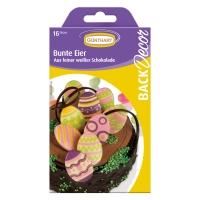 15 pz Motivi uova colorate, cioccolato