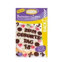 12 pz Lettere e numeri di  cioccolato