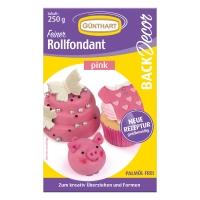 8 pz pezzi Pasta di zuccherogr. colorata, rosa, 250 gr.