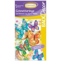 15 pz Farfalle e fiori, cialda