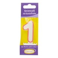 15 Candela cifra con supporto di plastica No: 1