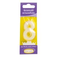 15 Candele con supporto in cera Nr. 8