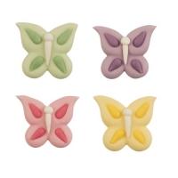 72 pz Farfalle di zucchero, assort.