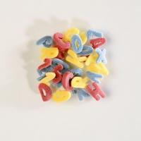 Decoro da spargere, alfabeto colorati di zucchero
