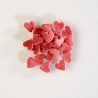 1,5 Kg Cuori di zucchero rossi