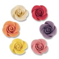48 pz Rose piccole,ass. di marzapane