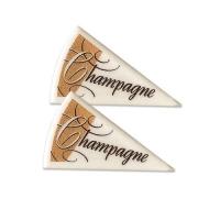 120 pz Triangoli champagne