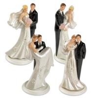 Coppia sposi in resina, piccola, 4 versioni