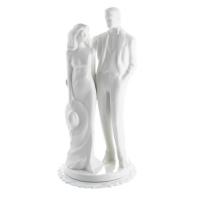 1 pz Sposi in porcellana, bianchi grandi