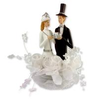 1 pz Sposi in resina, bianchi