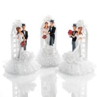 3 pz Sposi con corona a forma difinestra
