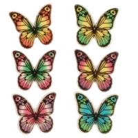 100 pz Placca di decoro Farfalle