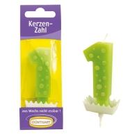 15 pz Candela cifra verde  1