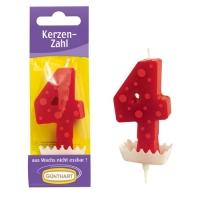 15 pz Candela cifra rosso  4