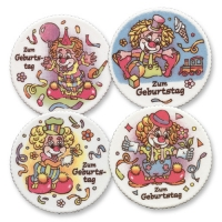 12 pz Placche  Buon compleanno  con clown