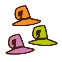 96 pz Cappelli da strega,  cioccolato fondente, ass.
