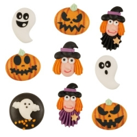 Figure Halloween, piatte, assortite