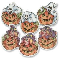 100 pz Placche piccole Halloween