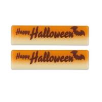 64 pz cioccolato bianco Placchetta  Happy Halloween ,