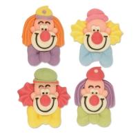 Teste clown di zucchero, piccole, piatte