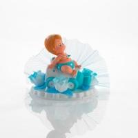 6 pz Alzate con bebè azzurre