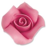 12 pz Rose di marzapane, rosa