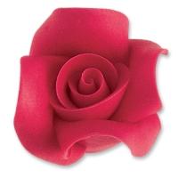 12 pz Rose grandi di marzapane, rosse