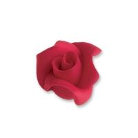 24 pz Rose piccole di marzapane, rosse