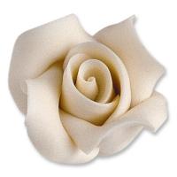 12 pz Rose piccole di marzapane,  bianche