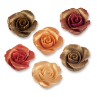36 pz Rose piccole in marzapane ass