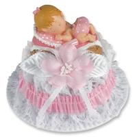 2 pz Bebè in resina, rosa
