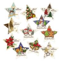 Placca  Frohe Weihnachten , pasta di zucchero