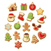 Piccoli decori di Natale, misti, pasta di zucchero