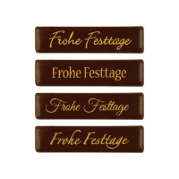 Placchetta  Frohe Festtage , cioccolato fondente