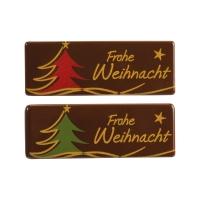 Placca  Frohe Weihnacht  cioccolato fondente, assortite