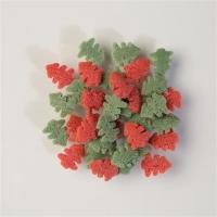 1,5 Kg Decoro da spargere, alberelli rossi e verdi
