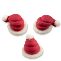 72 pz Cappelli Babbo Natale in 3D in zucch.