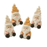 36 pz Babbo Natale 3D,zucchero,oro e perlato, assortito