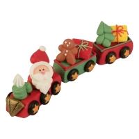 Trenino Babbo Natale, 3 D, zucchero
