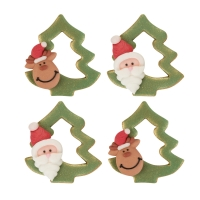 Abete con Babbo Natale e alce,zucch
