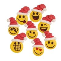 90 pz Sorrisi Babbo Natale,  zucchero