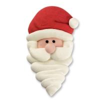 24 pz Faccie Babbo Natale di zucch., grandi