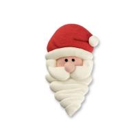75 pz Faccie Babbo Natale di zucchero, medie